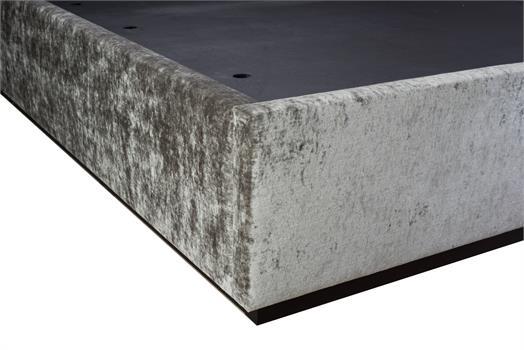Pathe Bed & 3-Panel Headboard with Black Mattress Platform - (For 135cm x 190cm Mattress)