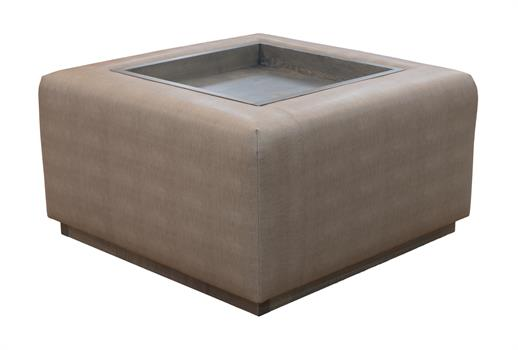 Windsor Ottoman with Tray, 75cm